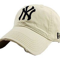 BUDI Unisex New York Yankees Adjustable Clean Up Baseball Cap