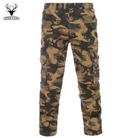 2016 Fashion Men Casual Pants Cargo Pants  New Camouflage Slim Army Camouflage Trousers Pants Military Joggers Plus Size