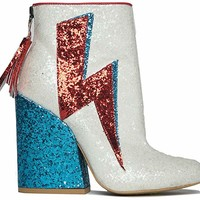 Ziggy Sparkle Glitter Ankle Boots