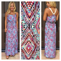 Arie Diamond Print Maxi Dress
