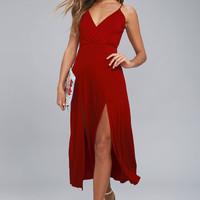 Time to Tango Red Midi Dress