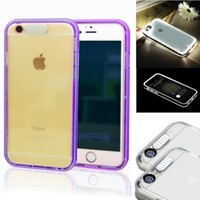 iPhone 6 Case,SmartBB(TM)[Lumenair Series] LED Case iPhone 6 (4.7) Incoming Call Flash Hybrid Case Cover with PC Hard Back Case + Luminous Soft Bumper Frame Case For iPhone 6 (4.7 inch)(purple)