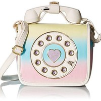 ONETOW BETSEY JOHNSON MINI PHONE CROSSBODY, RAINBOW