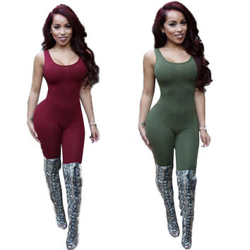 Backless Jumpsuit Bodycon Sexy Overall