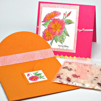 Mother's Day Angel Card, Bath Salt Card Insert, Gift Card Package with Bath Soak, One of a Kind