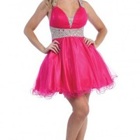 Luxurious Organza V-neck Homecoming Dresses  - Prom