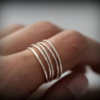 Wrap around ring - recycled sterling silver ring