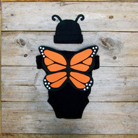 Butterfly Toddler Costume / Baby Halloween Costume / Monarch Butterfly