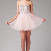 THE RITZ EMBELLISHED TULLE PROM DRESS