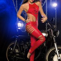 New Red Sensual Pole Dancers Catsuit.