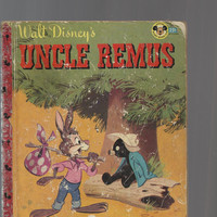 Vintage Uncle Remus Book, Walt Disney's Uncle Remus, 1947 Mickey Mouse Club Book (Like Little Golden Book), Tar Baby Story Included,