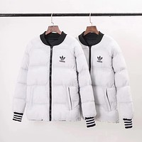 ADIDAS Woman Men Fashion Two Sides Coat Jacket Cardigan Windbreaker