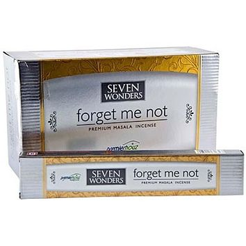 Seven Wonders Forget Me Not Incense - 15 Gram Pack (12 Packs Per Box)