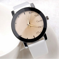 Fashion Watches Casual Leather Band
