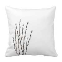 Pussywillows Branches Pillow