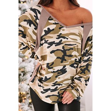 I Command You Oversized Top (Olive)