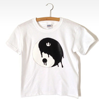 Yin Yang Drip Tee (White) from Now and Again Co.