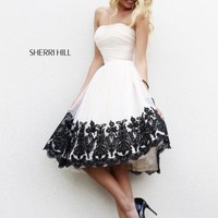 Sherri Hill Short Homecoming Dress 11092 at Peaches Boutique