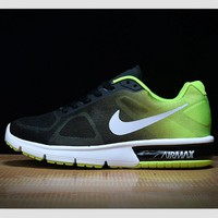 NIKE fashion trends air shoes running shoes casual shoes Black and green
