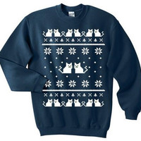 Kitty Couple Ugly Cat Sweater