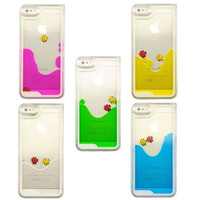 """New arrival Liquid Fish Shell Hard Back Case Dynamic Transparent Clear Case for iphone 5 5S 6 4.7"""""""