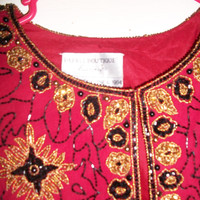 Adrianna Papell Boutique Evening 1980's Vintage Beaded Jacket Extra-large
