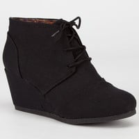 City Classified Rex Womens Wedges Black  In Sizes