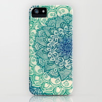 Emerald Doodle iPhone & iPod Case by Micklyn