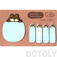 Brown Bear Shaped Adhesive Post-its and Memo Notepad | Animal Themed Stationery