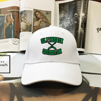 Slytherin Quidditch Harry Potter Hogwarts Black White - Slytherin team Baseball Cap, Dad Hat Baseball Hat, Low-Profile Baseball Cap Tumblr