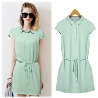 Women's Fashion Stylish Summer Short Sleeve One Piece Dress [9405062404]