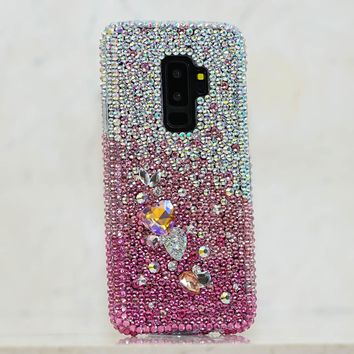 AB Faded to Pink with 3D Stones Design (style 900)