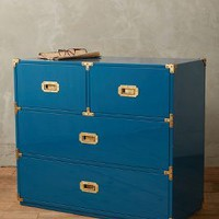 Lacquered Wellington Four-Drawer Dresser by Anthropologie