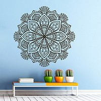 Mandala Wall Decal Vinyl Sticker Decals Lotus Flower Yoga Namaste Indian Ornament Moroccan Pattern Om Home Decor Bedroom Art Design Interior NS298
