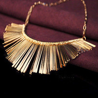 Gold Silver Gray 3 Colors Tassel Necklace Collier Femme High Quality Vintage Jewelry Statement Chokers Necklace & Pendants