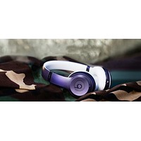 Beats Solo 3 Wireless Magic Sound Bluetooth Wireless Hands Headset MP3 Music Headphone with Microphone Line-in Socket TF Card Slot Purple