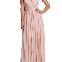 Dress the Population Chloe Lace & Chiffon Gown   Nordstrom