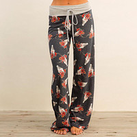 Women's Fashion Casual Print Pants [179839402010]
