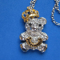 Juicy Couture Rhinestone Bear cabachon by Crickety on Etsy