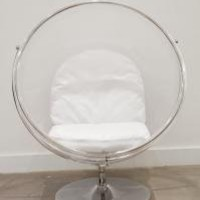www.roomservicestore.com - Standing Bubble Chair with Chrome Finish
