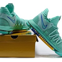 Nike Mens Kevin Durant KD 10 Mint Green 2 Basketball Shoes