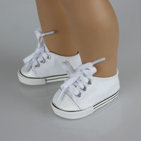 """Fashon White Shoes For 18 """" American Girl Doll 45cm Doll"""