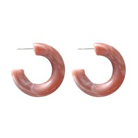 Chunky Lucite Hoops - Dusty Rose