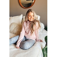 Stay With Me Hoodie-Blush Pink(S-XL)