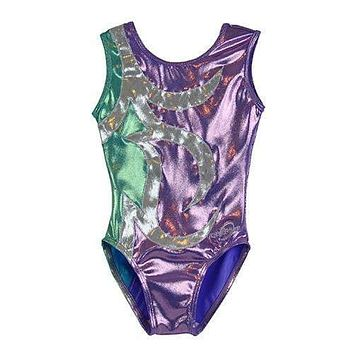O3GL042 Obersee Girls Gymnastics Leotard One-Piece Athletic Activewear Girl's Dance Outfit Girls' & Women's Sizes - Abby Lilac