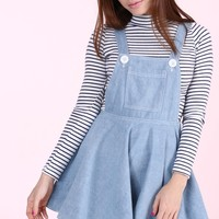 Glitters For Dinner — PRE ORDER - Light Denim Pinafore by GFD