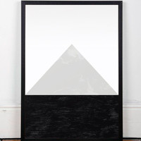Geometric abstract, Abstract art print, Geometric poster, Monochrome poster, Monochrome art print, Black and white poster, Wall decor, Print