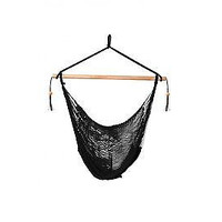 Laid Back - Easy hang, Island Rope Hammock Chair - Black