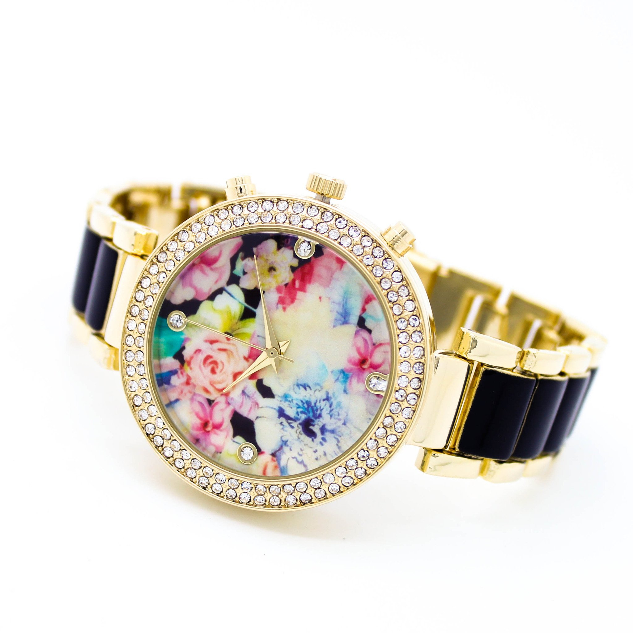 Image of Flower face metal watch (2 colors)
