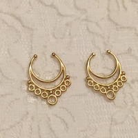 Serendipity Fake Septum Ring in Gold